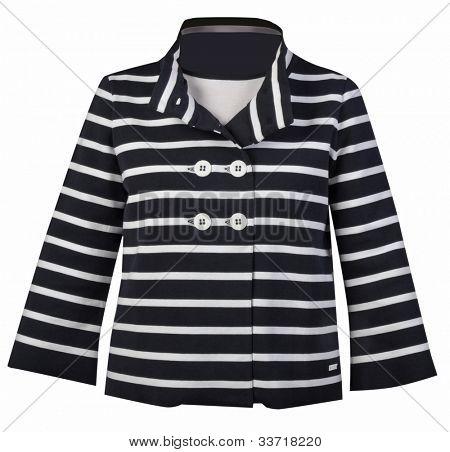 women striped jacket poster