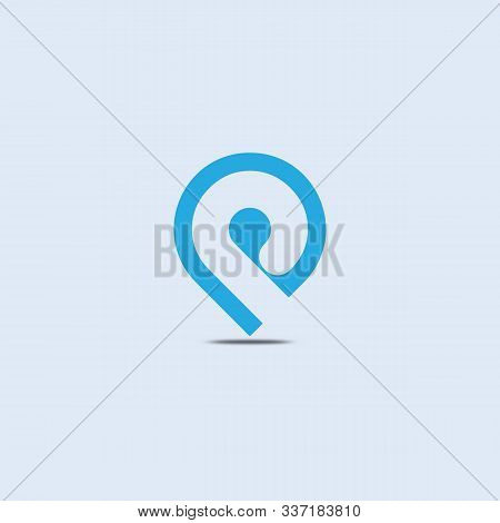 P Letter Location Vector Logo Design. P Letter Logo With Location Sign.