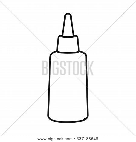 Vector Design Of Tube And Sealant Sign. Web Element Of Tube And Super Vector Icon For Stock.