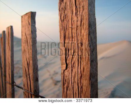 Beach Fence Closeup