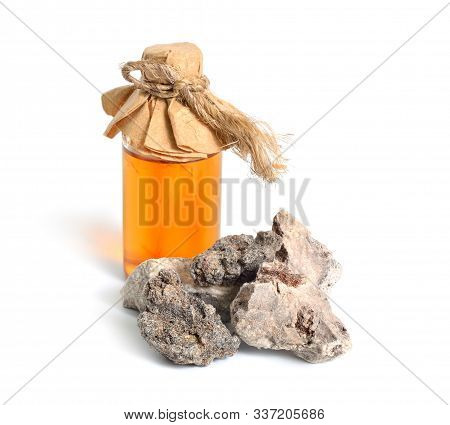 Palo Santo Incense Resin. Isolated On White Background