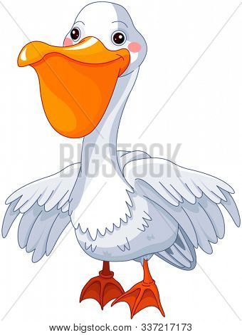 Illustration of very cute pelican