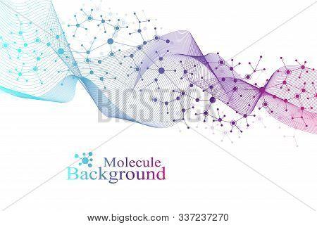 Big Genomic Data Visualization. Dna Helix, Dna Strand, Dna Test. Crispr Cas9 - Genetic Engineering.