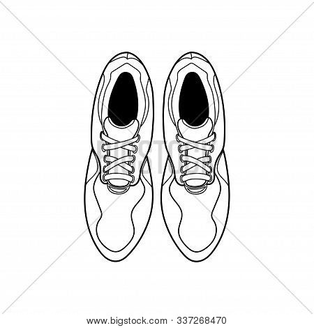 Shoe Icon Trendy And Modern Shoe Symbol. Vector Design A Pair Of Shoes With A View From The Top For