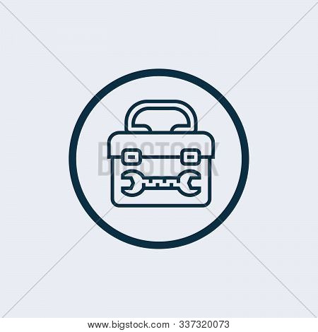 Toolbox Icon Isolated On White Background From Seo Collection. Toolbox Icon Trendy And Modern Toolbo