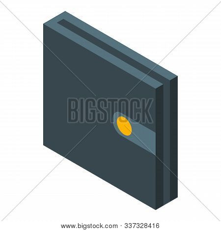 Leather Wallet Icon. Isometric Of Leather Wallet Vector Icon For Web Design Isolated On White Backgr