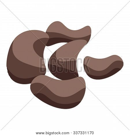 Chocolate Nuts Icon. Isometric Of Chocolate Nuts Vector Icon For Web Design Isolated On White Backgr