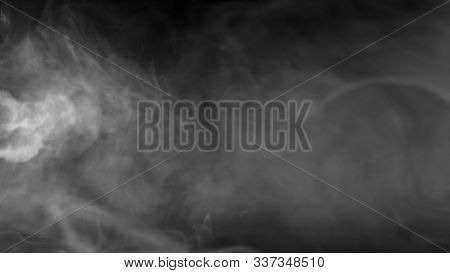 Smokes Clouds Background, Abstract Smoke In Slow Motion, Misty Texture