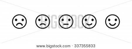 Emoji Reaction Isolated Vector Icons. Set Of Emoji Icon. Smile Sad Face. Angry Icon. Eps 10