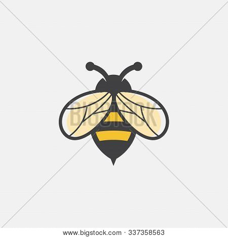 Bee Icon Logo Design Inspiraiton, Unique Geometric Bee Logo Symbol Vector Design Illustration, Honey