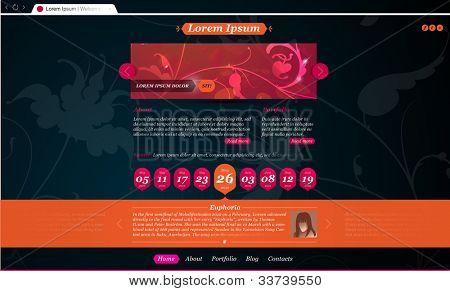 Stylish website template for personal portfolio, fashion blog