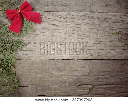 Christmas Ornament  Background In Vintage Style Stock Photo