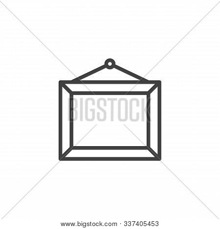 Art Gallery Picture Frame Line Icon. Linear Style Sign For Mobile Concept And Web Design. Wall Pictu