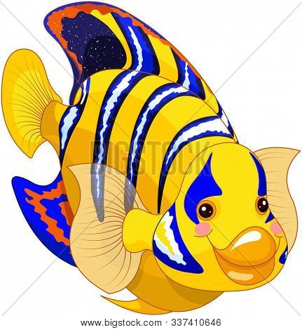Illustration of cute angel fish