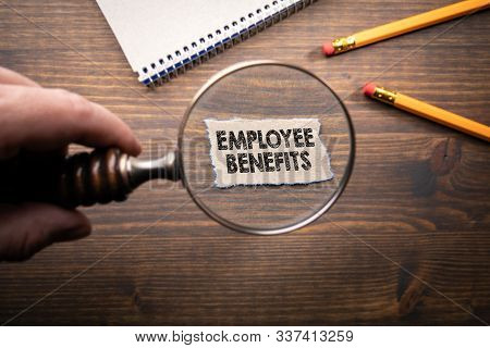 Employee Benefits. Business, Career, Bonuses And Insurance Concept