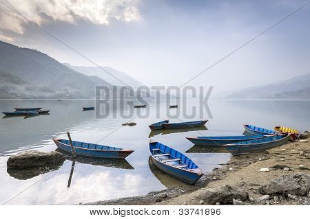 Boats On Pokhara Fewa Lake