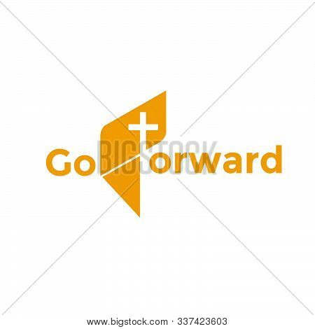 Go Forward Theme Church Logo Design For Print