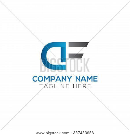 Initial Df Or Af Letter Logo With Creative Modern Business Typography Vector Template. Creative Lett