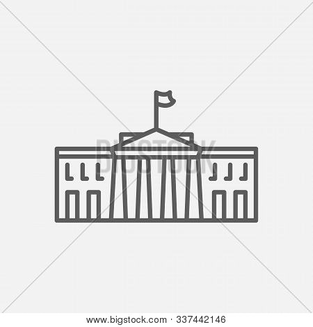White House Icon Line Symbol. Isolated Vector Illustration Of Icon Sign Concept For Your Web Site Mo