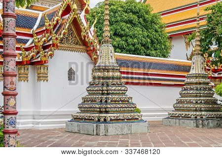 Pavilions And Chedis, Called Phra Chedi Rai, Which Contain The Ashes Of Members Of The Royal Family,