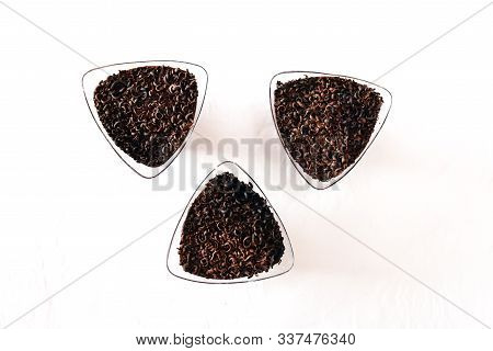 White Isolated Background With Clipping Paths Close Up Homemade Chocolate Cupcakes. Decorate With Cr