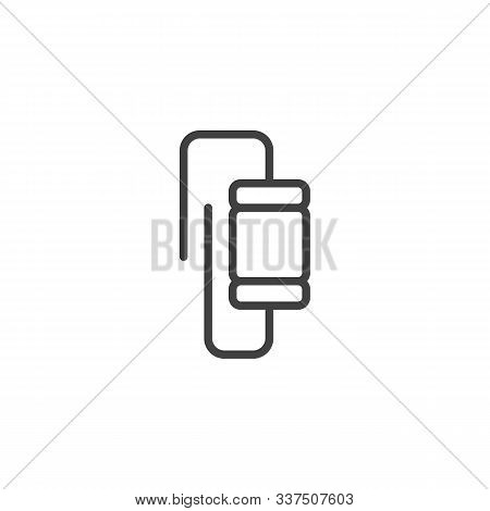 Electronic Component, Varistor Line Icon. Linear Style Sign For Mobile Concept And Web Design. Resis
