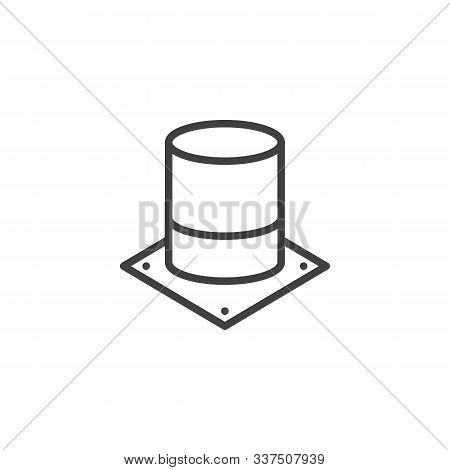 Electrolytic Capacitor Line Icon. Linear Style Sign For Mobile Concept And Web Design. Electronic Co