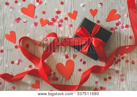 Valentines Day Postcard. Love Concept For Mothers Day And Valentines Day. Happy Valentines Day Heart