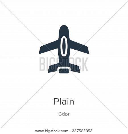 Plain Icon Vector. Trendy Flat Plain Icon From Gdpr Collection Isolated On White Background. Vector