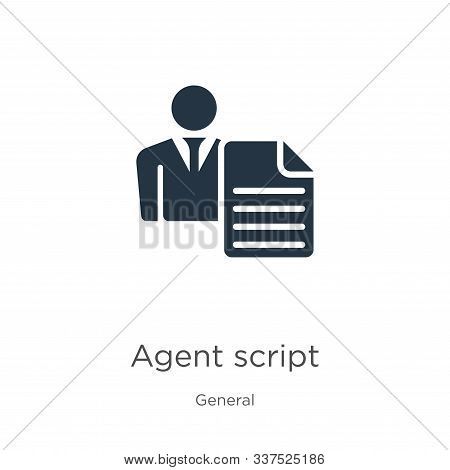 Agent Script Icon Vector. Trendy Flat Agent Script Icon From General Collection Isolated On White Ba