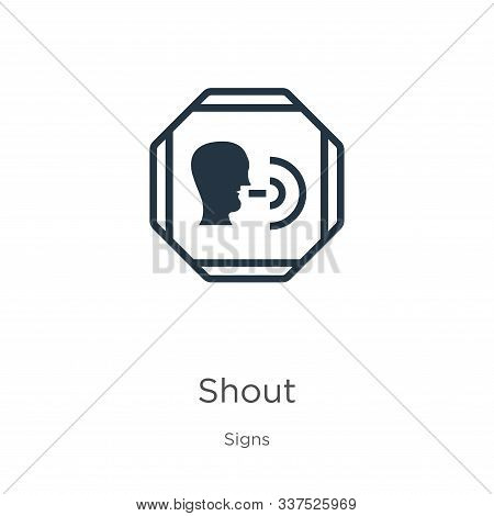 Shout Icon Vector. Trendy Flat Shout Icon From Signs Collection Isolated On White Background. Vector