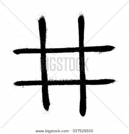 Vector Hand Drawn Noughts And Crosses, Tic-tac-toe Competition. Template Tic Tac Toe Xo Game. Graffi