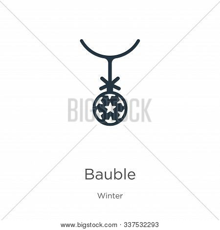 Bauble Icon Vector. Trendy Flat Bauble Icon From Winter Collection Isolated On White Background. Vec