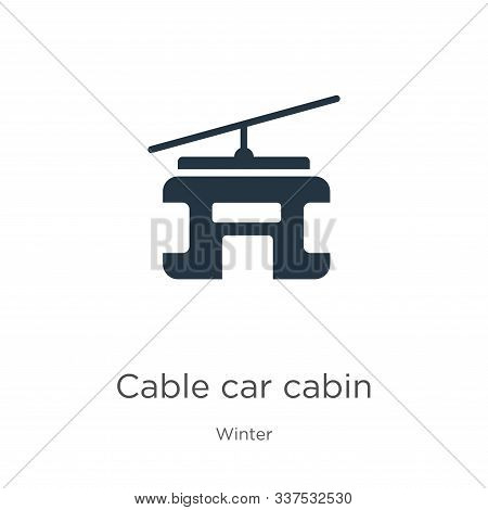 Cable Car Cabin Icon Vector. Trendy Flat Cable Car Cabin Icon From Winter Collection Isolated On Whi