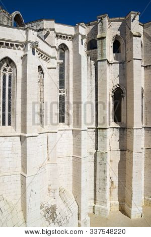 The ruins of the Carmo Church in Lisbon, Portugal.