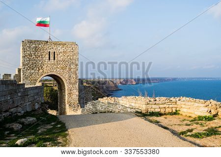Cape Caliacra Is A Nature Monument In Bulgarian Dobrogea (quadrilateral), Comprising A Medieval Fort