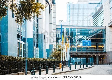 BRUSSELS, BELGIUM - August 27, 2017: European Commission in Brussels, Belgium.European Union, responsible for proposing legislation, implementing decisions, BRUSSELS, BELGIUM