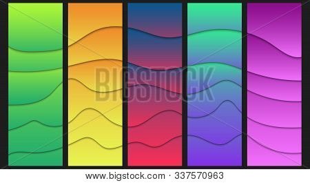Modern Colorful Fluid Shapes Background. Abstract Layout Design. Web Banners Concept. Vector Illustr
