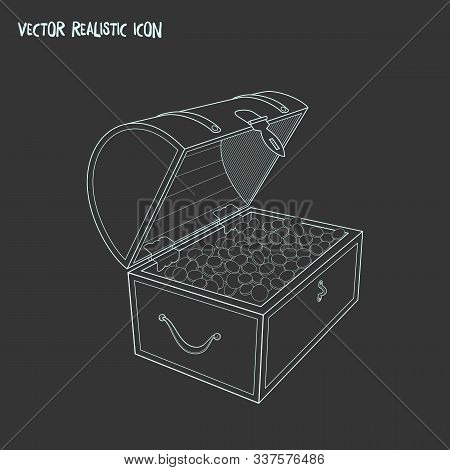 Chest Of Jewellery Icon Line Element. Vector Illustration Of Chest Of Jewellery Icon Line Isolated O