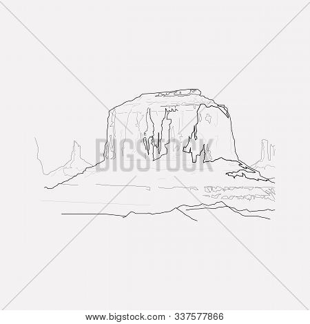Grand Canyon Icon Line Element. Vector Illustration Of Grand Canyon Icon Line Isolated On Clean Back