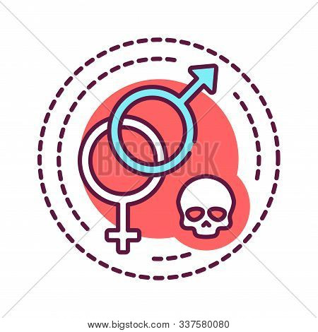 Sex Addiction Color Line Icon. Physical Or Emotional Dependence On Having Sexual Intercourse. Pictog