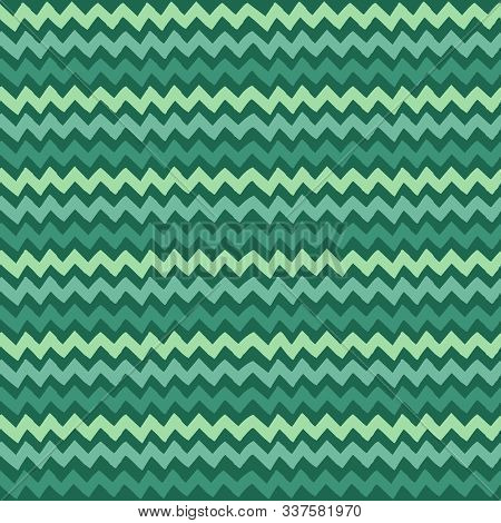 Seamless Vector Neo Mint Pattern Hand Drawn Zigzag Sketch. Freehand Vector Zigzag Line Drawing. Colo