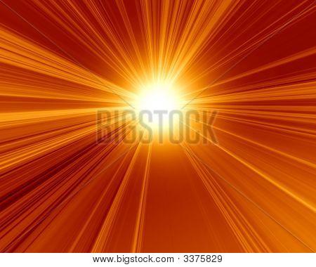 Burning Red Sun
