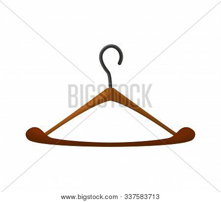 Vector Sewing Tool For Needlework And Embroidery. Illustration Of Hanger. Sewing Equipment Tailoring