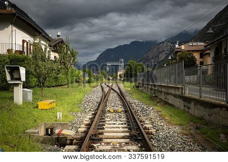 The Railway In Hone Town, Aosta Valley, Italy
