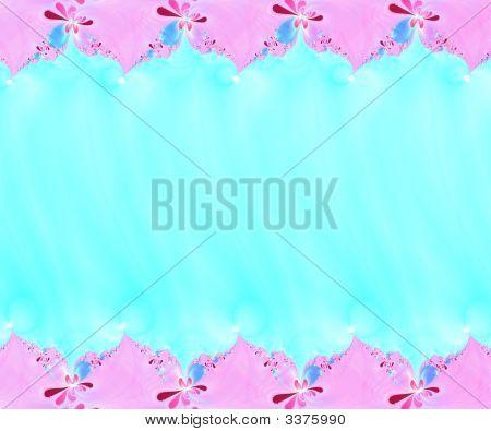 Flower Fractal Border