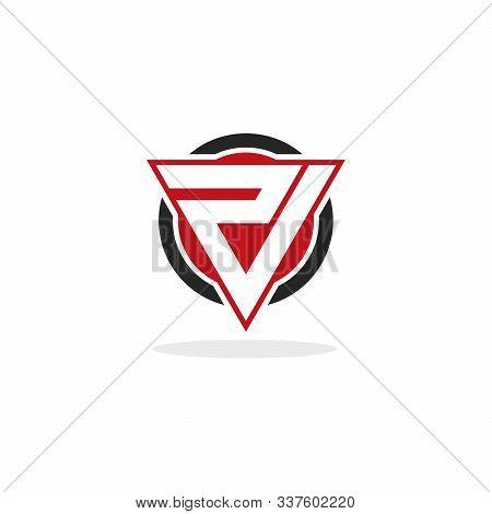 Modern V R Logo Initial Designs Template Vector