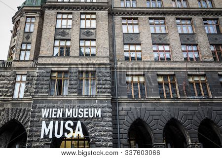 Vienna, Austria - November 6, 2019: Main Entrance To The Wien Museum Musa, Also Called Startgalerie