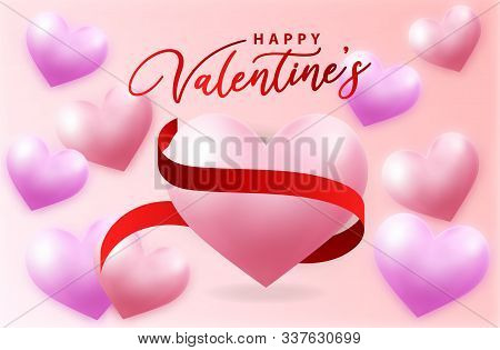 valentine, valentine day, Valentines Day background, Valentine's day banners, Valentines Day flyer, Valentines Day design, Valentines Day with Heart on pink background, Copy space text area, vector illustration.