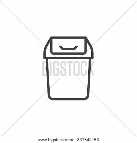 Trashcan Basket Line Icon. Linear Style Sign For Mobile Concept And Web Design. Garbage Bin Outline